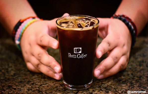 peets coffee with hands