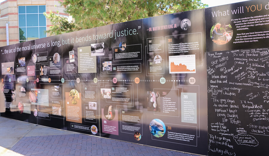 arc of justice college display