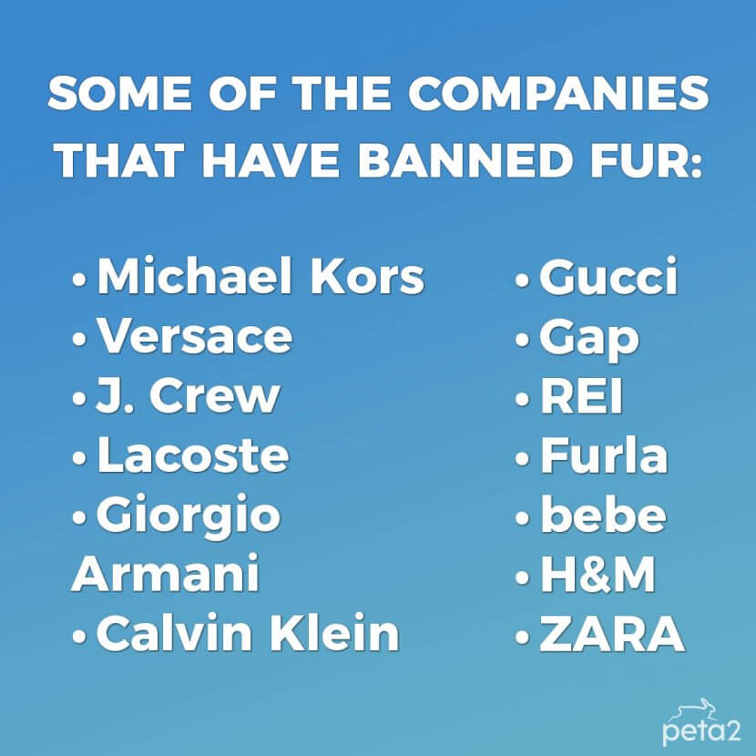 companies that have banned fur
