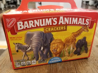 Nabisco Has Emptied the Cages on Barnum's Animals Crackers
